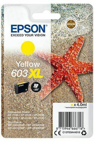 Epson Singlepack Ink Nr.603XL yell. T03A4