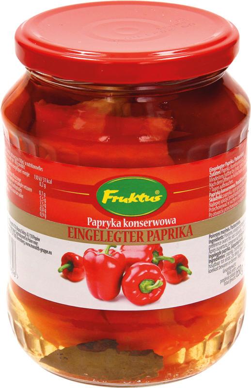 Eingelegter Paprika. Pasteurisiert.