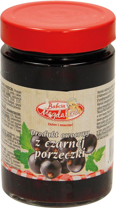 Fruchtaufstrich-Schwarze Johannisbeere. Pasteurisiert.