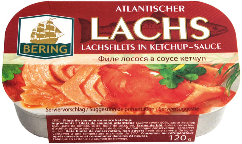 Lachsfilets in Ketchup-Sauce
