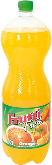 Kohlensäurehaltiges Erfrischungsgetränk mit Zugabe von Orangensaft
