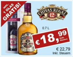 Chivas Regal Whisky 12 Years inkl 1 Glas Gratis