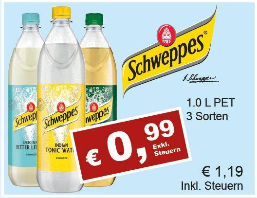 Schweppes Tonic, Bitter Lemon & Ginger Ale