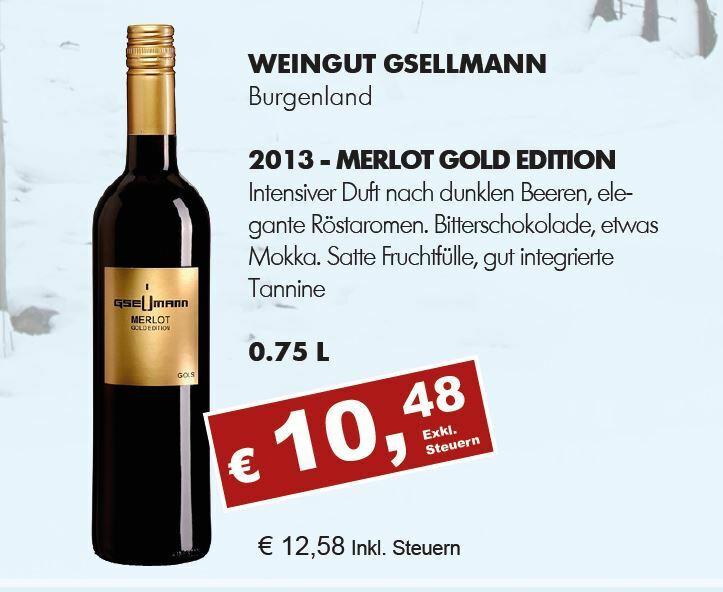 2013 Merlot Gold Edition