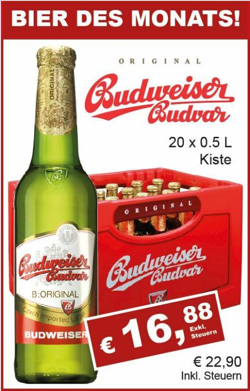 Budweiser 20x0,5l