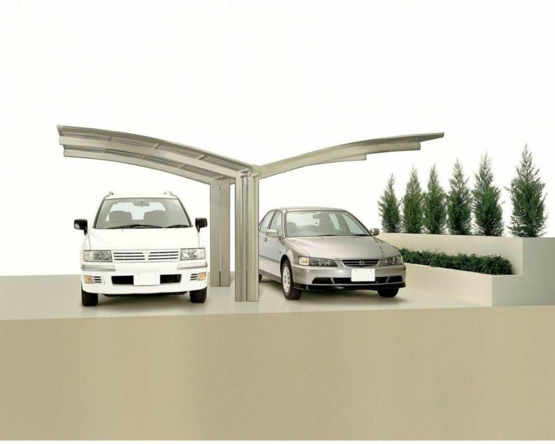 "Carport Alu ""Portoforte 80 Y-Ausführung"" Edelstahl-Look Edelstahl | 4954 cm"