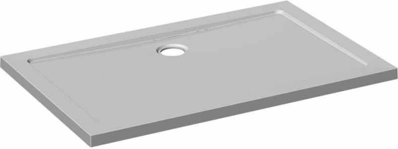 Duschwanne viereckig, 90x120 cm, weiß, Front + Bein + Drain 900x1200x16 mm