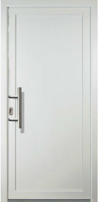 "Haustür ""JM Signum"" Aluminium PVC  Mod. 01, weiß/weiß, Anschlag links, 98x200 cm Links"