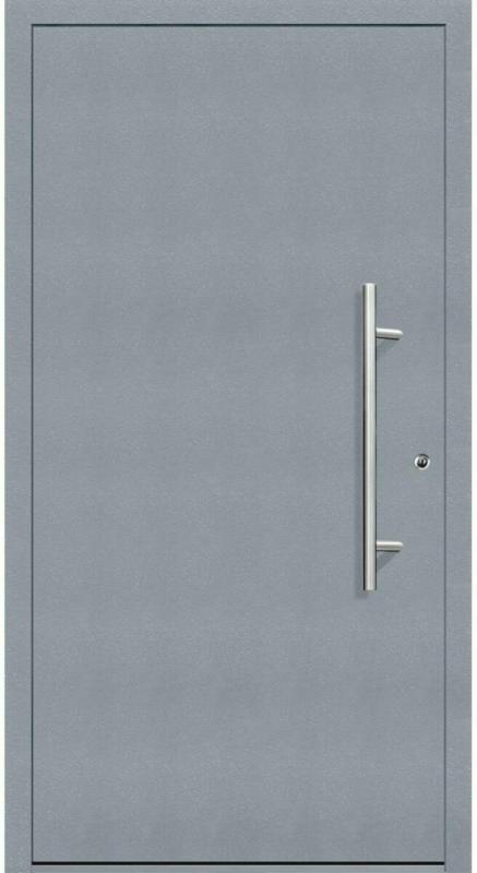 """Aluminium Sicherheits-Haustür """"Latina Exklusiv"""", 75mm, grau, 100x210 cm, Anschlag rechts, inkl. Griffset rechts"""