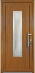 """Haustür """"JM Signum"""" Exklusiv PVC Mod. 32 weiß/golden oak, Anschlag rechts, 108x208 cm rechts"""