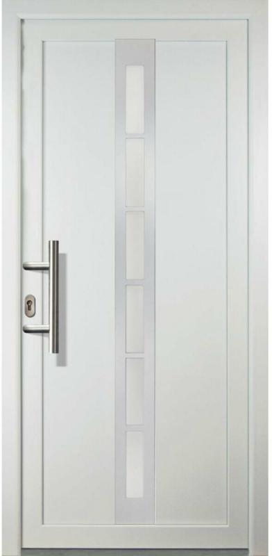 "Haustür ""JM Signum"" Aluminium PVC  Mod. 38, weiß/weiß, Anschlag links, 98x200 cm Links"