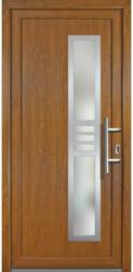 """Haustür """"JM Signum"""" Exklusiv PVC Mod. 53 weiß/golden oak, Anschlag rechts, 108x208 cm rechts"""