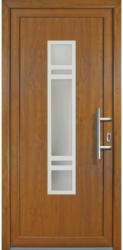 """Haustür """"JM Signum"""" Exklusiv PVC Mod. 83 golden oak/golden oak, Anschlag rechts, 108x208 cm rechts"""