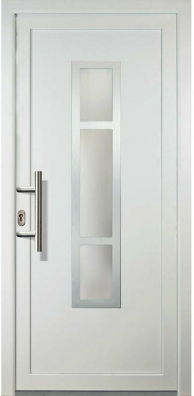"Haustür ""JM Signum"" Aluminium Mod. 87, weiß/weiß, Anschlag links, 98x208 cm Links"