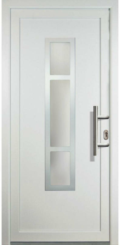 """Haustür """"JM Signum"""" Aluminium Mod. 87, weiß/weiß, Anschlag rechts, 108x208 cm rechts"""