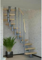 Mittelholmtreppe Dublin, 1/2gewendelt,  65 cm, inkl. einseitigem Geländer