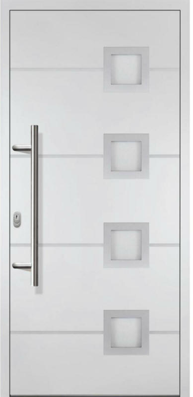 "Haustür ""JM Novum Unique"" Mod. 01, weiß/weiß, Anschlag links, 98x200 cm Links"