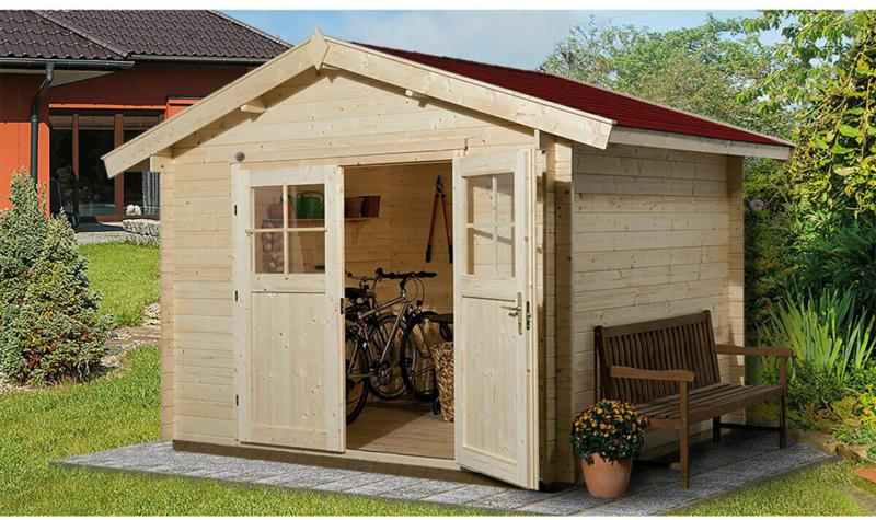 """Gartenhaus """"Premium28"""", 250x200 cm, mit Doppeltür"""