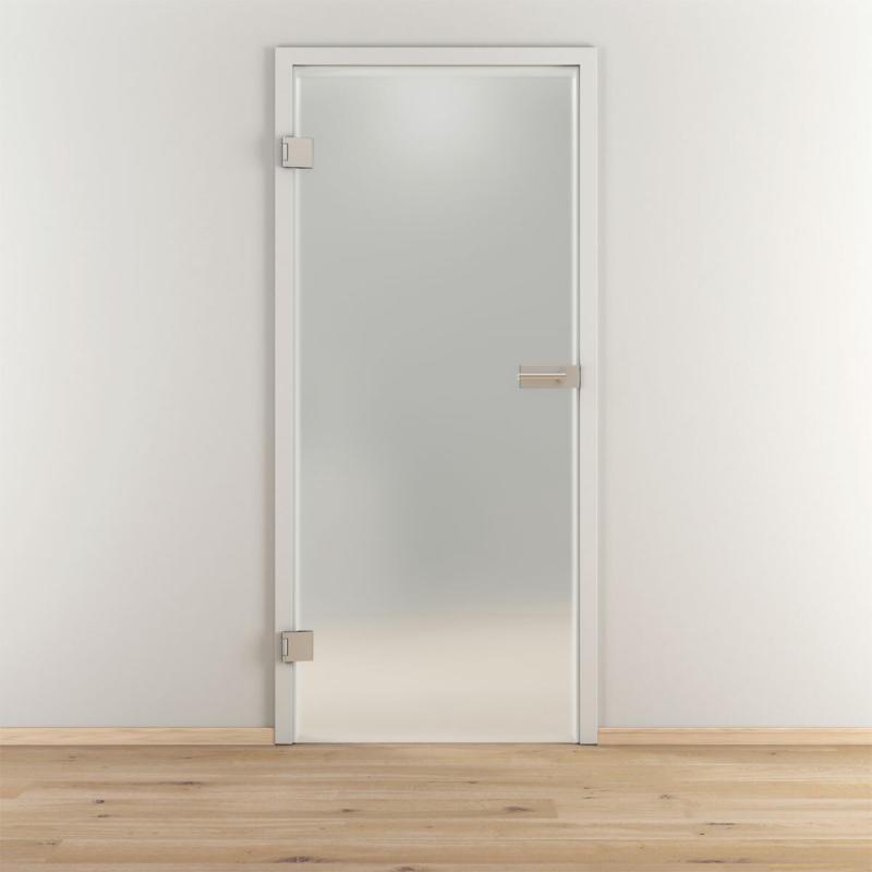 "Glasdrehtür ""NOVA 501"", mattiert, 70,9x197,2cm, Links 70.9 cm | links"