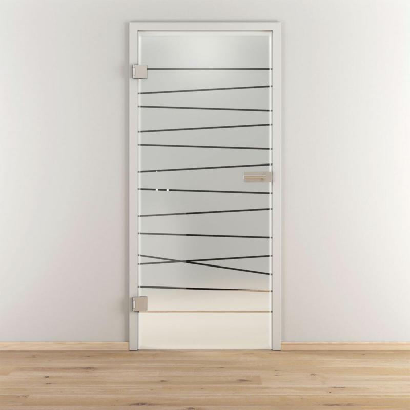 "Glasdrehtür ""NOVA 514"", mattiert, 70,9x197,2cm , Links 70,9 cm   links"