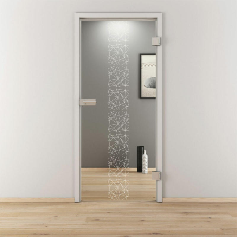 "Glasdrehtür ""NOVA 504"", klar, 70,9x197,2 cm, Rechts 70,9 cm | rechts"