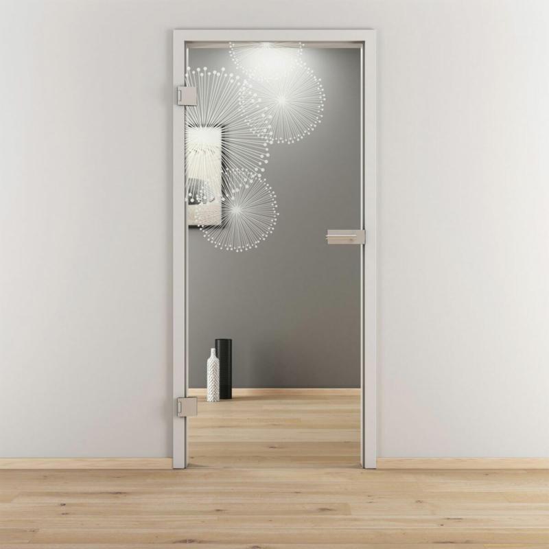 "Glasdrehtür ""NOVA 507"", klar, 70,9x197,2 cm, Links 70,9 cm | links"