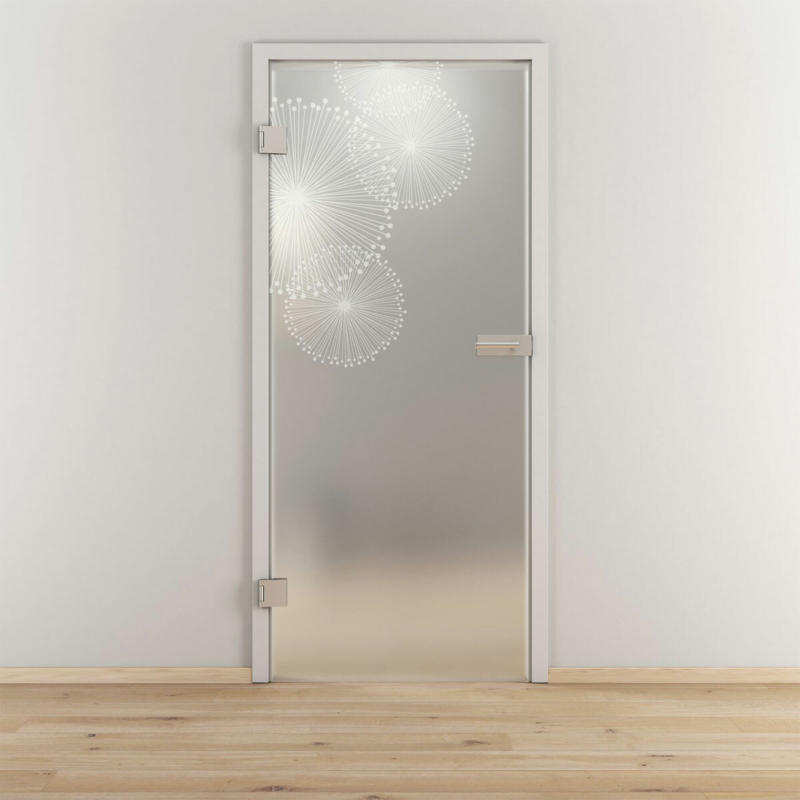 "Glasdrehtür ""NOVA 507"", mattiert, 70,9x197,2cm , Links 70,9 cm | links"