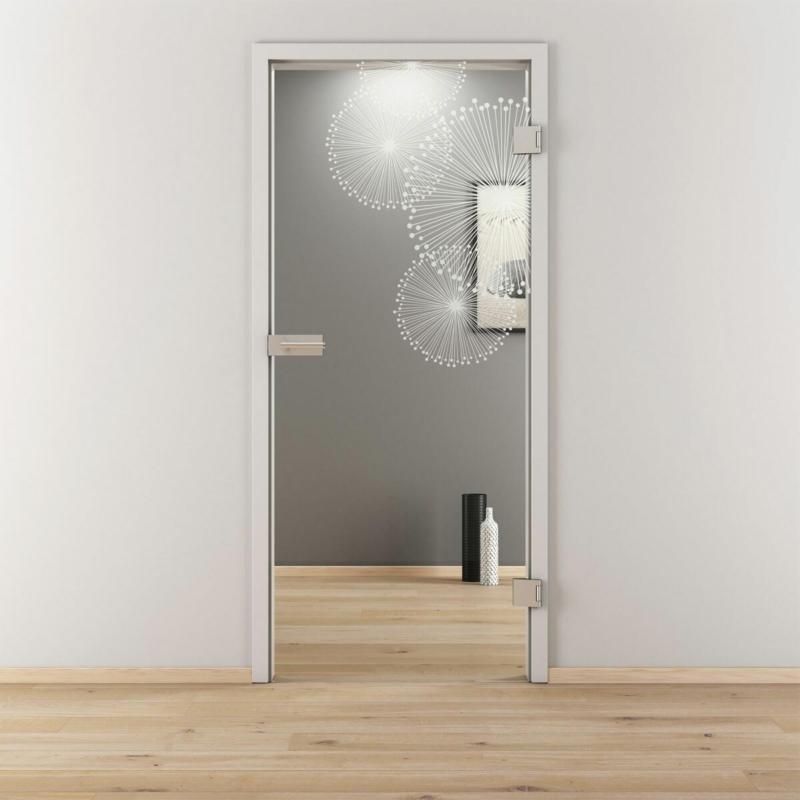 "Glasdrehtür ""NOVA 507"", klar, 83,4x197,2 cm, Rechts 83,4 cm | rechts"