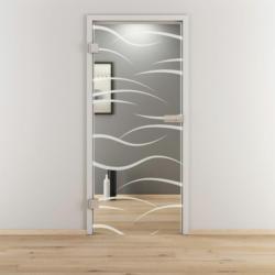 "Glasdrehtür ""NOVA 540"", klar, 83,4x197,2 cm, Links 83,4 cm | links"