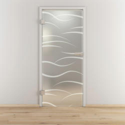 "Glasdrehtür ""NOVA 540"", mattiert, 83,4x197,2cm , Links 83,4 cm | links"