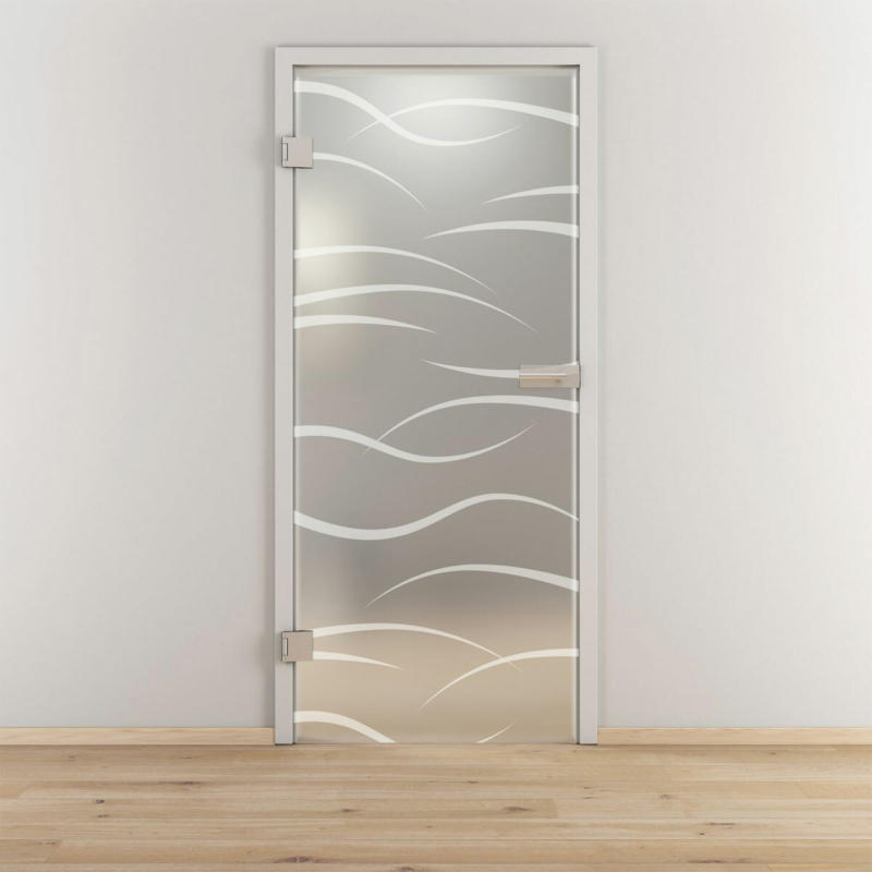 "Glasdrehtür ""NOVA 540"", mattiert, 70,9x197,2cm , Links 70,9 cm | links"