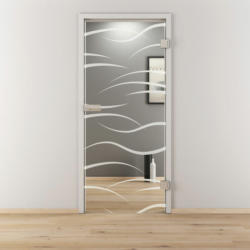 "Glasdrehtür ""NOVA 540"", klar, 83,4x197,2 cm, Rechts 83,4 cm   rechts"