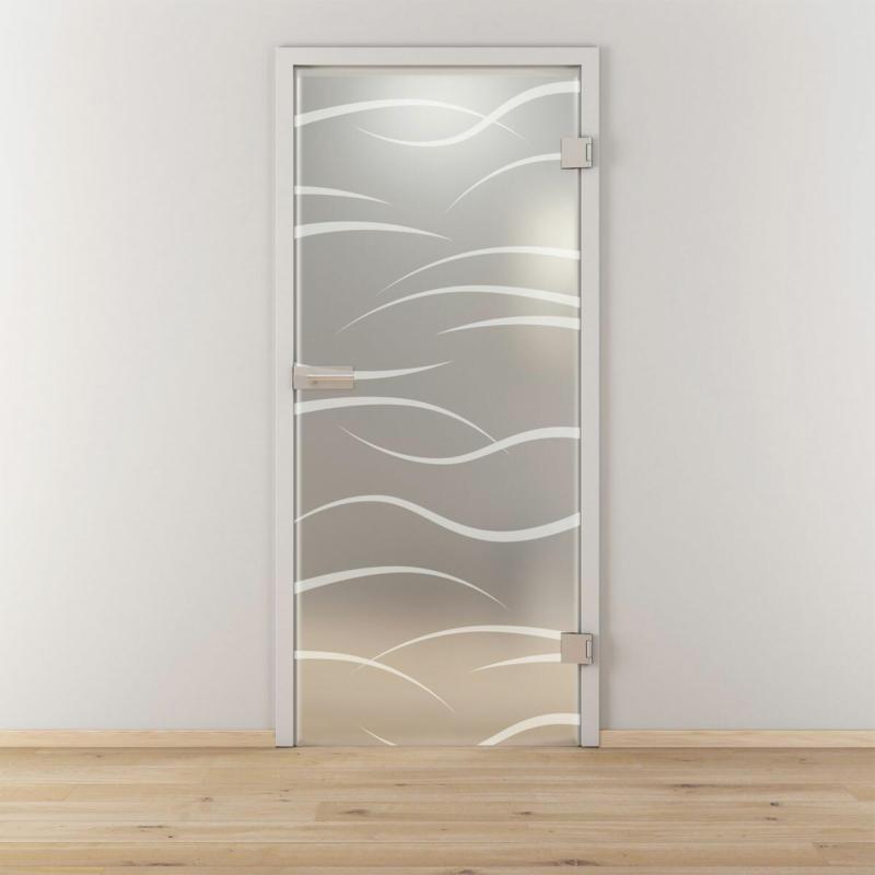 """Glasdrehtür """"NOVA 540"""", mattiert, 70,9x197,2 cm, Rechts 70,9 cm   rechts"""