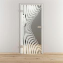 "Glasdrehtür ""NOVA 543"", klar, 83,4x197,2 cm, Links 83,4 cm | links"