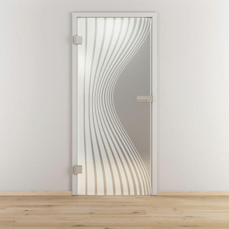 "Glasdrehtür ""NOVA 543"", mattiert, 70,9x197,2cm , Links 70,9 cm | links"