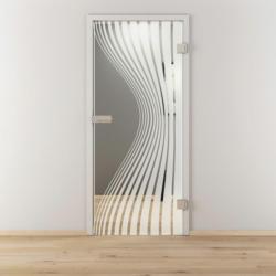 "Glasdrehtür ""NOVA 543"", klar, 70,9x197,2 cm, Rechts 70,9 cm | rechts"