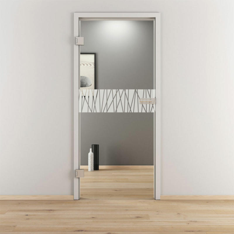 "Glasdrehtür ""NOVA 546"", klar, 70,9x197,2 cm, Links 70,9 cm | links"