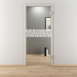 "Glasdrehtür ""NOVA 546"", klar, 70,9x197,2 cm, Rechts 70,9 cm | rechts"