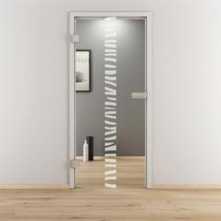 "Glasdrehtür ""NOVA 548"", klar, 70,9x197,2 cm, Links 70,9 cm | links"