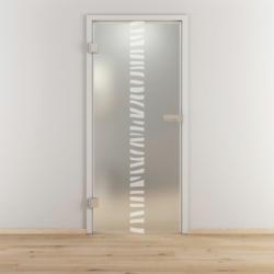"Glasdrehtür ""NOVA 548"", mattiert, 83,4x197,2cm , Links 83,4 cm | links"
