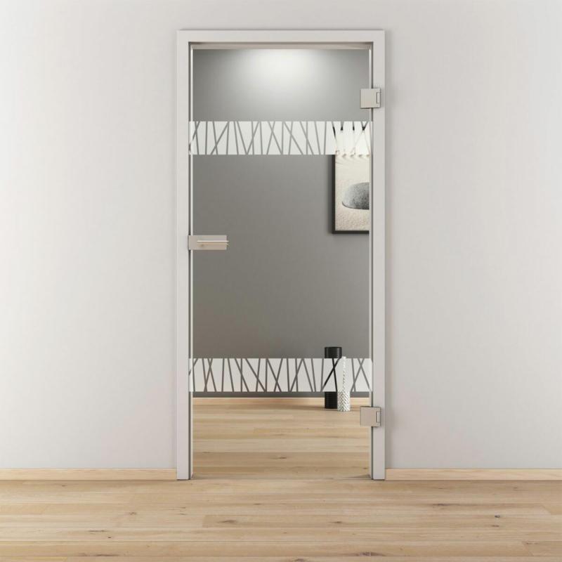 "Glasdrehtür ""NOVA 550"", klar, 70,9x197,2 cm, Rechts 70,9 cm | rechts"