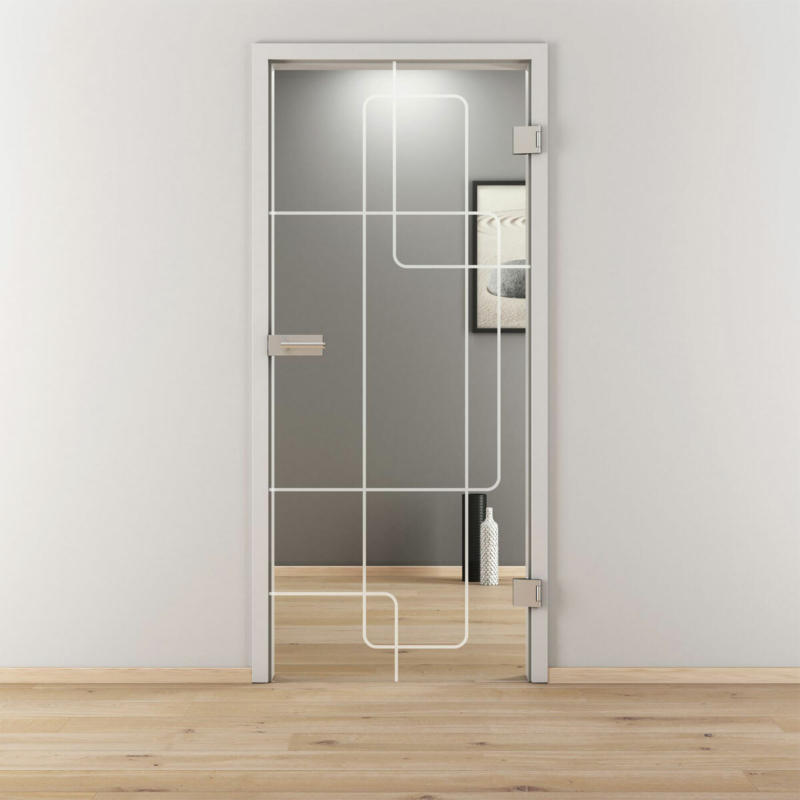 "Glasdrehtür ""NOVA 553"", klar, 83,4x197,2 cm, Rechts 83,4 cm | rechts"
