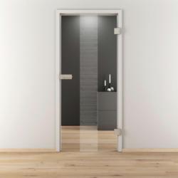 "Glasdrehtür ""NOVA 557"", klar, 83,4x197,2 cm, Rechts 83,4 cm | rechts"