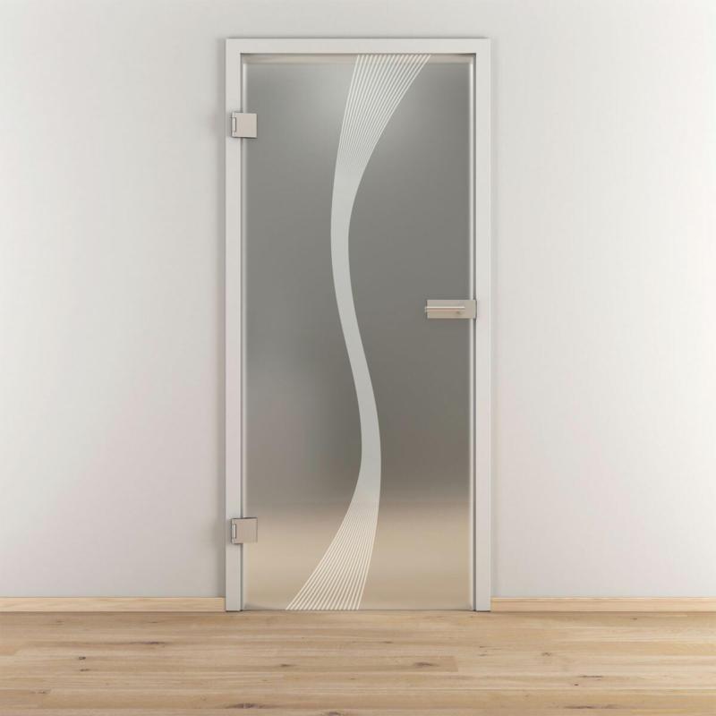 "Glasdrehtür"" NOVA 583"", mattiert, 70,9x197,2cm , Links 70,9 cm   links"