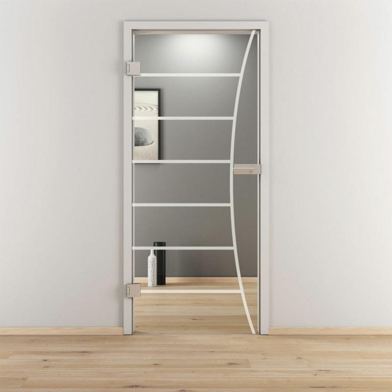"Glasdrehtür ""NOVA 586"", klar, 83,4x197,2 cm, Links 83,4 cm | links"