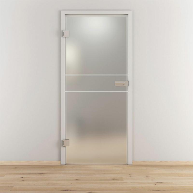 "Glasdrehtür ""NOVA 589"", mattiert, 83,4x197,2cm , Links 83,4 cm | links"