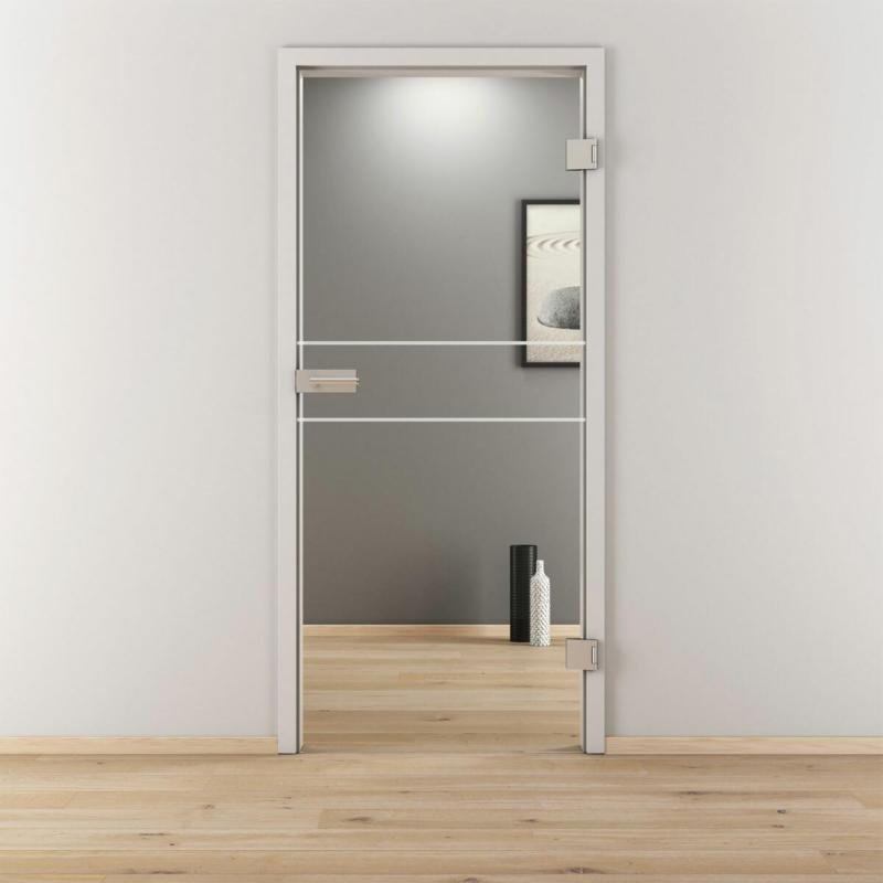 "Glasdrehtür ""NOVA 589"", klar, 70,9x197,2 cm, Rechts 70,9 cm | rechts"