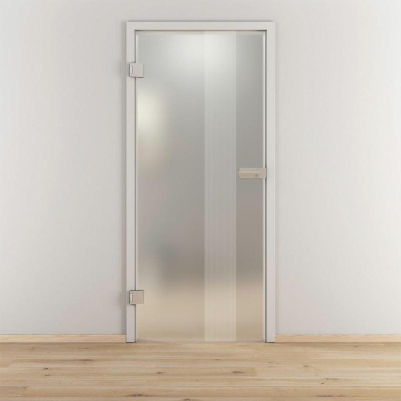 "Glasdrehtür ""NOVA 594"", mattiert, 83,4x197,2cm , Links 83,4 cm | links"