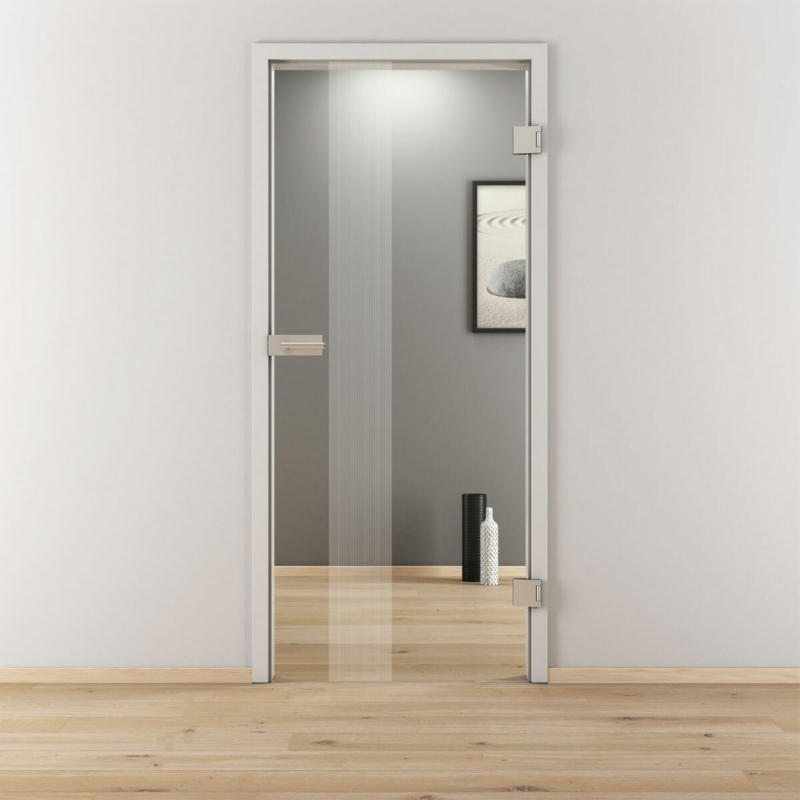 "Glasdrehtür ""NOVA 594"", klar, 70,9x197,2 cm, Rechts 70,9 cm | rechts"