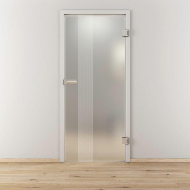 """Glasdrehtür"""" NOVA 594"""", mattiert, 95,9x197,2 cm, Rechts 95,9 cm   rechts"""